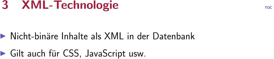 XML in der Datenbank