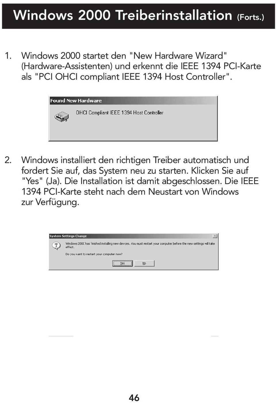 """PCI OHCI compliant IEEE 1394 Host Controller"". 2."