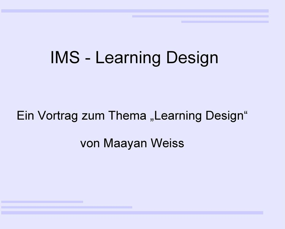 zum Thema Learning