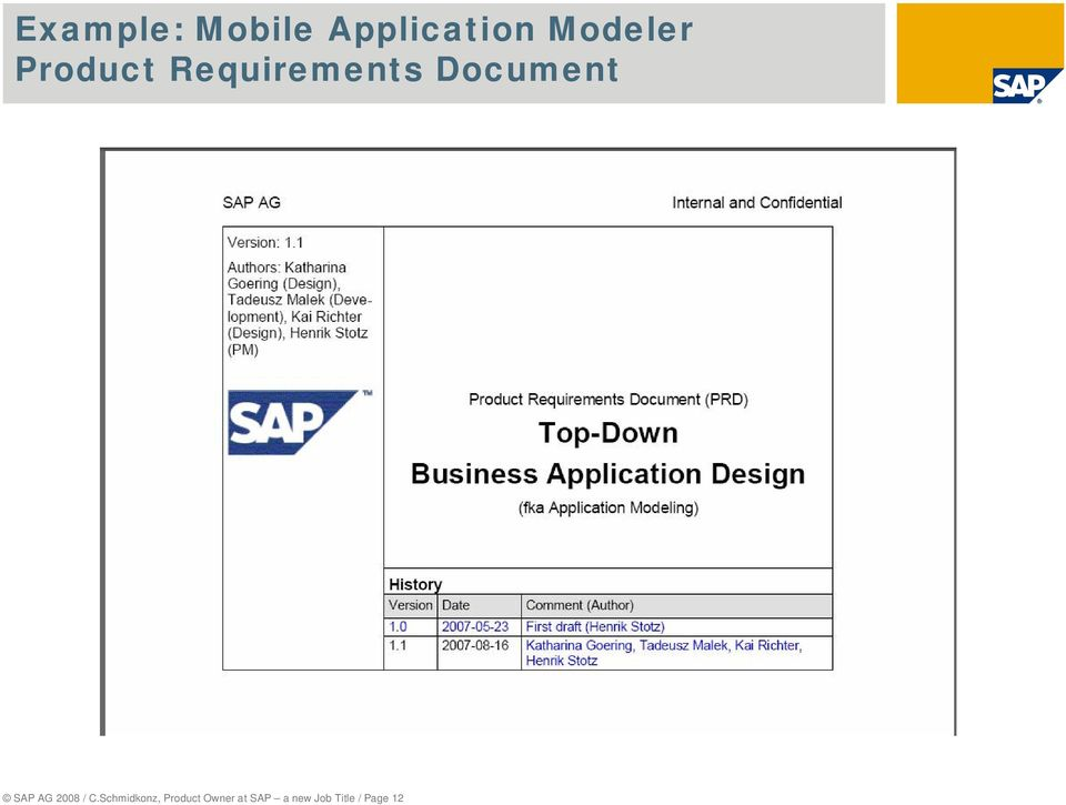Document SAP AG 2008 / C.