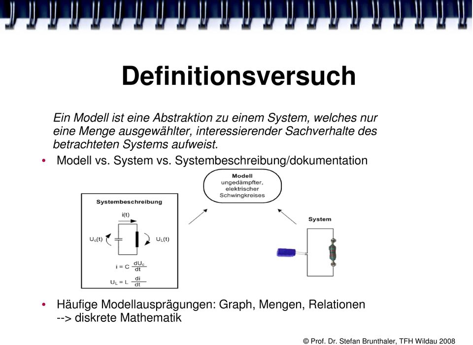 Systems aufweist. Modell vs. System vs.