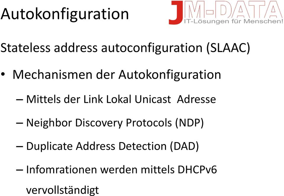 Unicast Adresse Neighbor Discovery Protocols (NDP) Duplicate