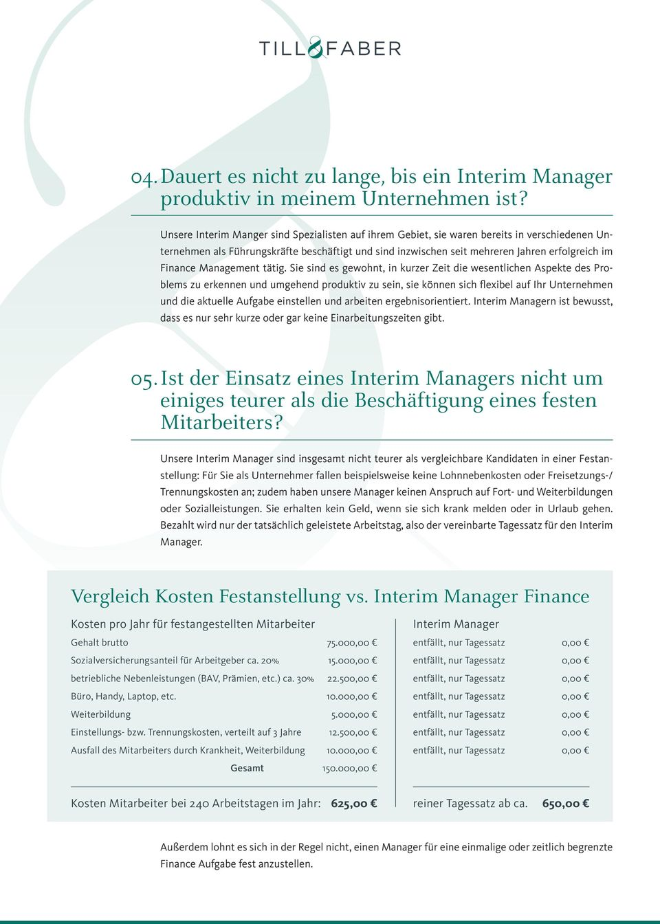 Management tätig.