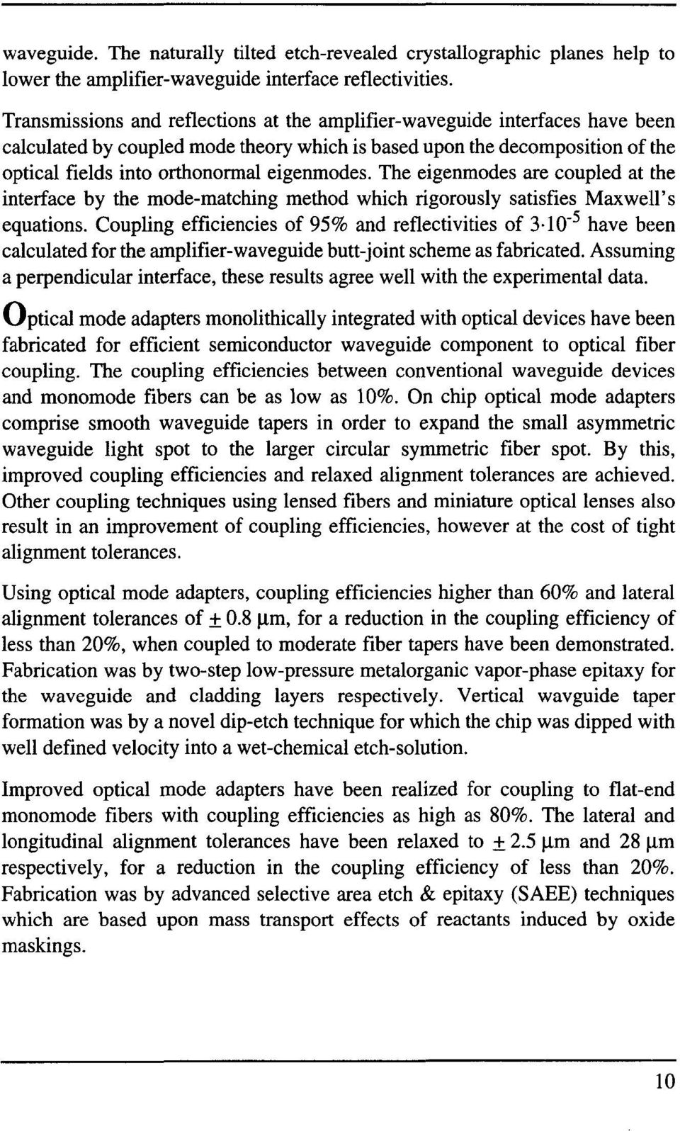 fiber alignment and joint losses pdf