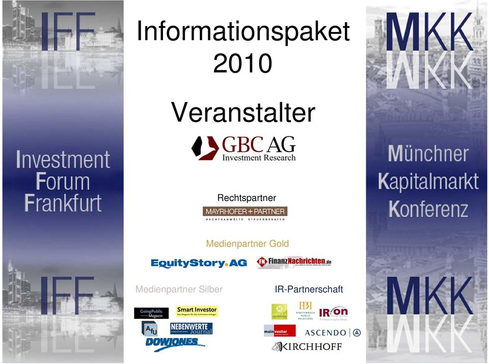 Medienpartner Gold