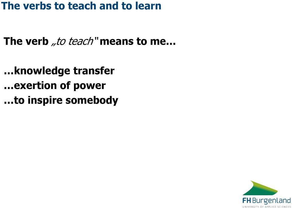 to me knowledge transfer
