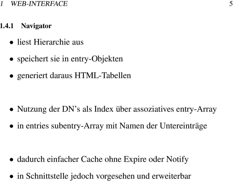 HTML-Tabellen Nutzung der DN s als Index über assoziatives entry-array in