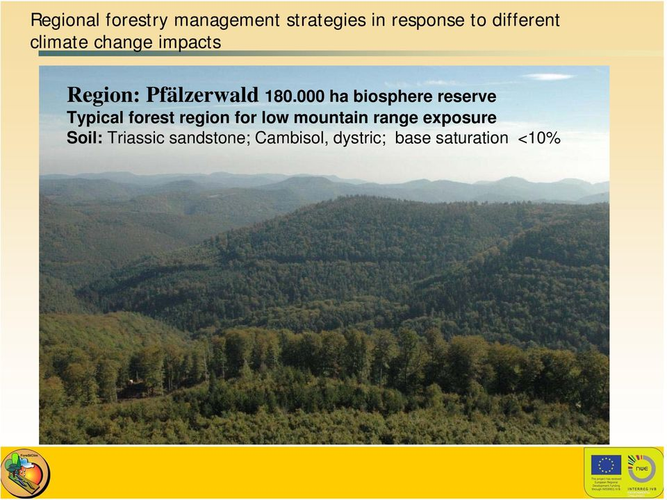 000 ha biosphere reserve Typical forest region for low mountain