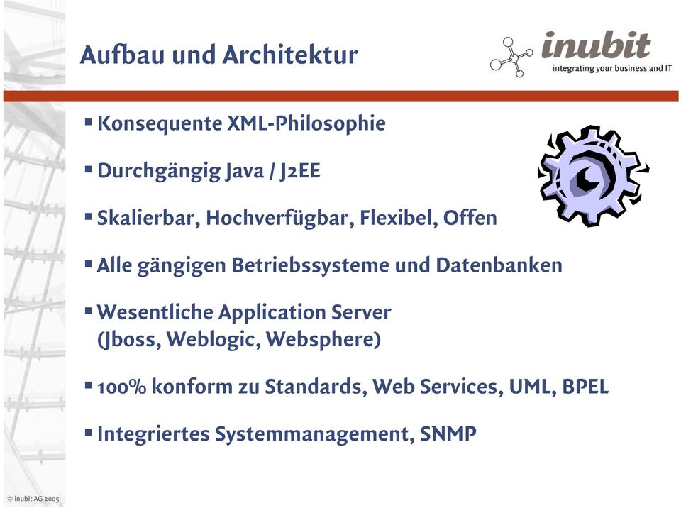 Datenbanken Wesentliche Application Server (Jboss, Weblogic, Websphere) 100%