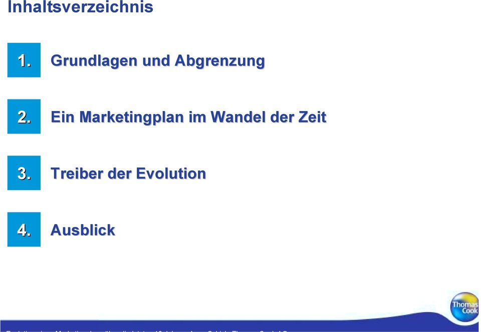 Ein Marketingplan im Wandel