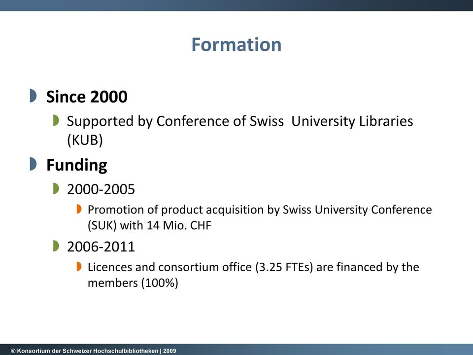 by Swiss University Conference (SUK) with 14 Mio.