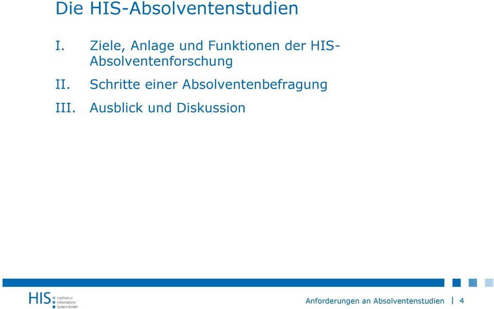 der HIS- Absolventenforschung