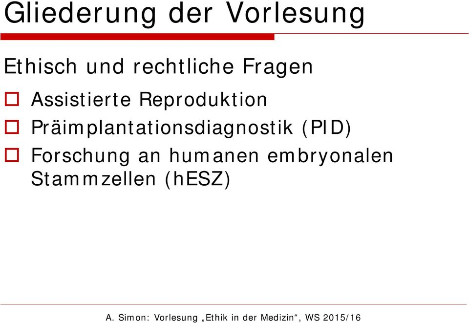 Reproduktion Präimplantationsdiagnostik