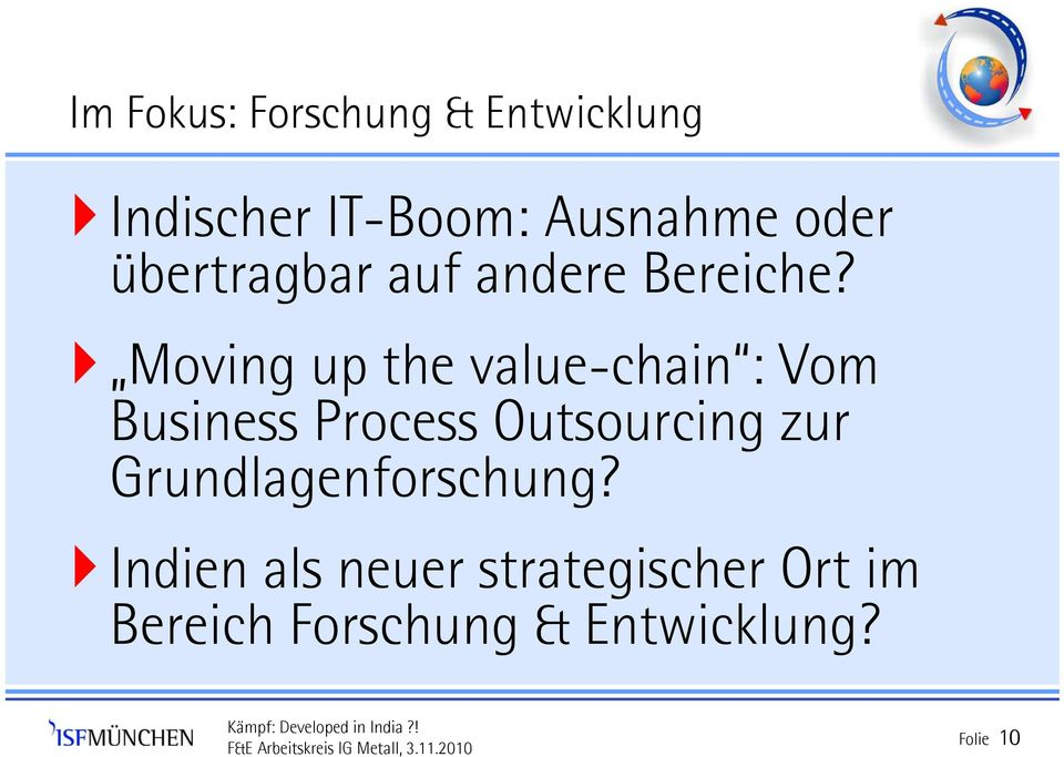 Moving up the value-chain : Vom Business Process Outsourcing zur