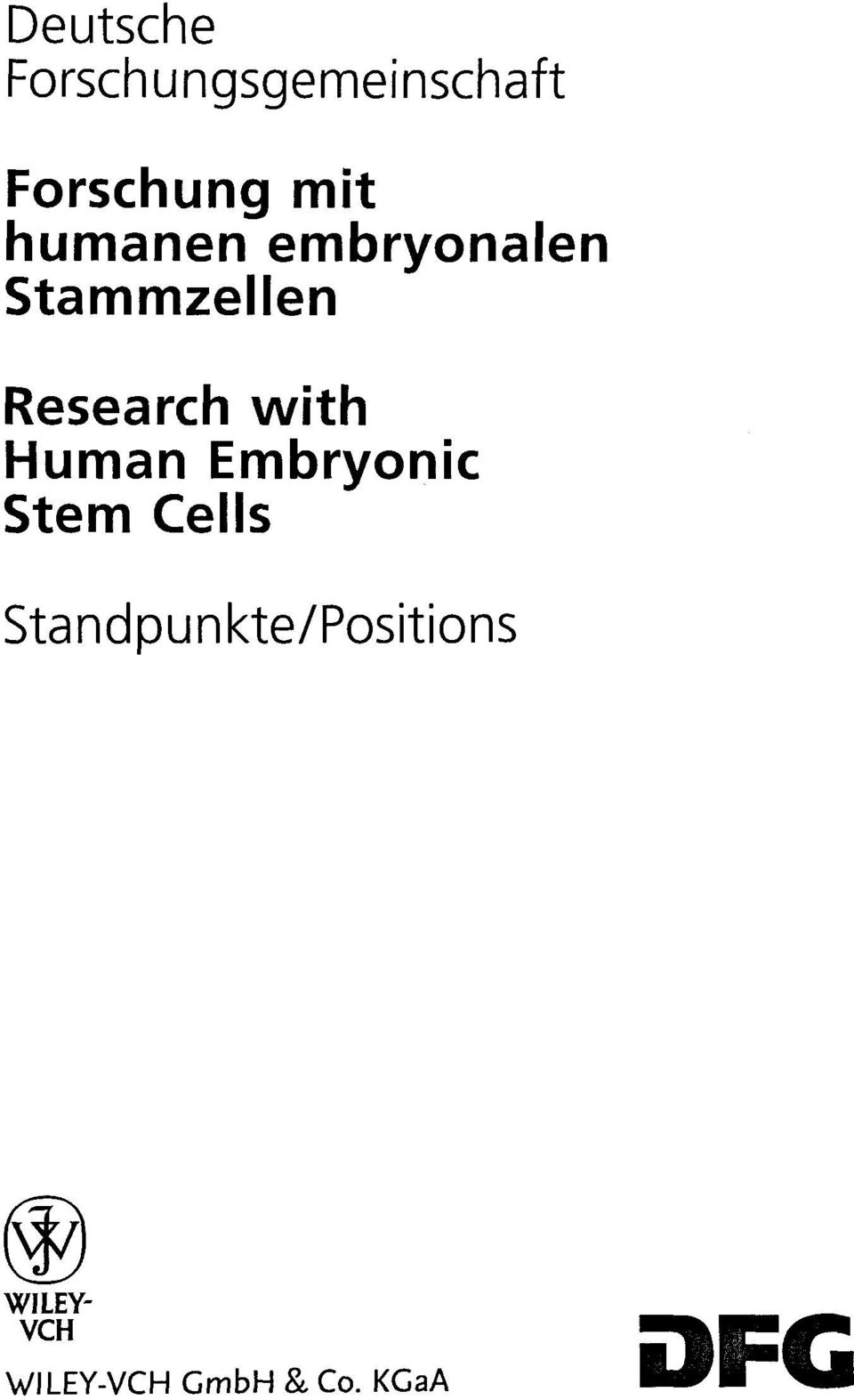 Human Embryonic Stern Cells