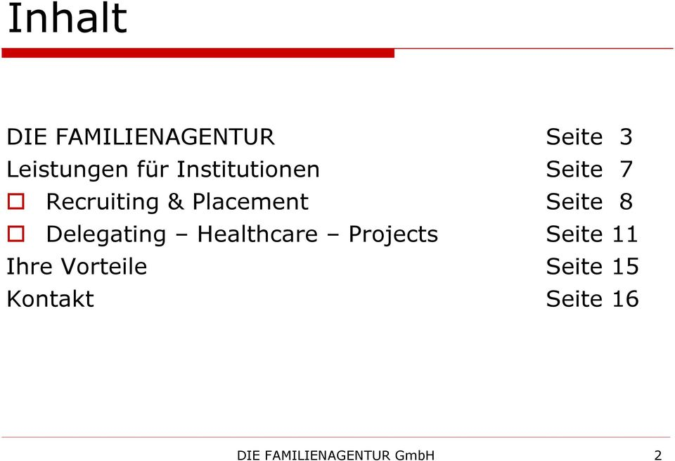 Delegating Healthcare Projects Seite 11 Ihre