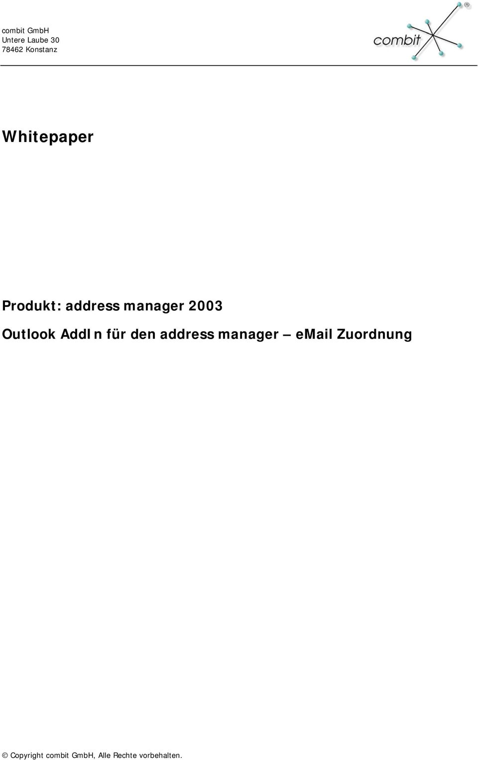 address manager 2003 Outlook AddIn