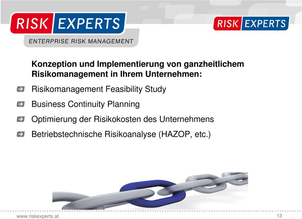 Feasibility Study Business Continuity Planning Optimierung