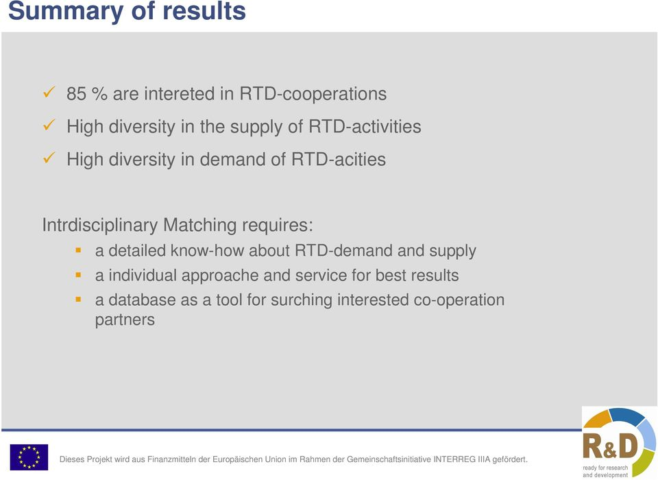 requires: a detailed know-how about RTD-demand and supply a individual approache and