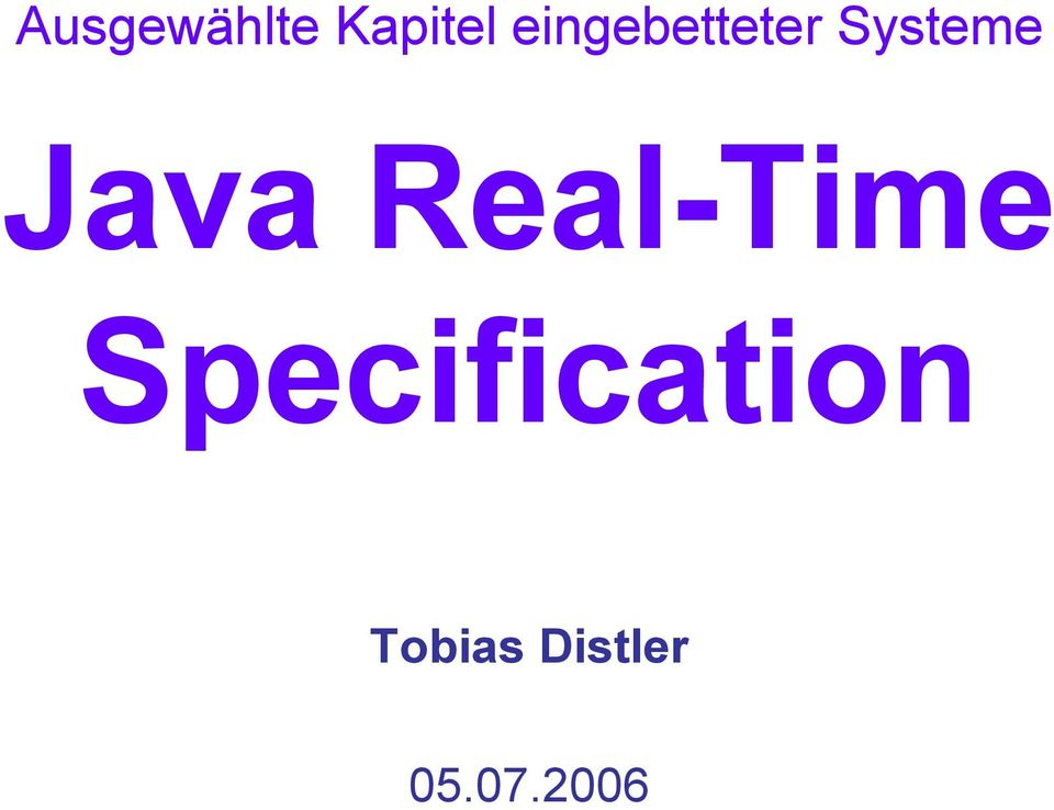 Java Real-Time