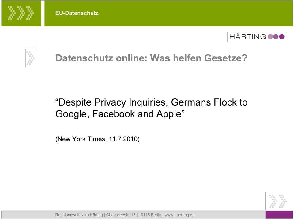 Despite Privacy Inquiries, Germans