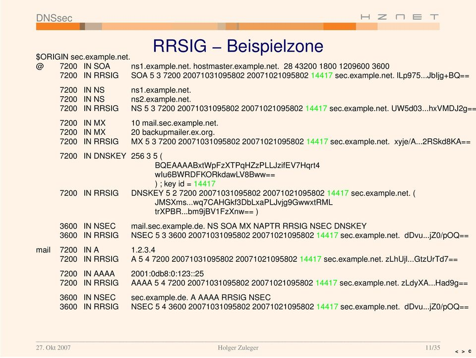 ex.org. 7200 IN RRSIG MX 537200 20071031095802 20071021095802 14417 sec.example.net. xyje/a.