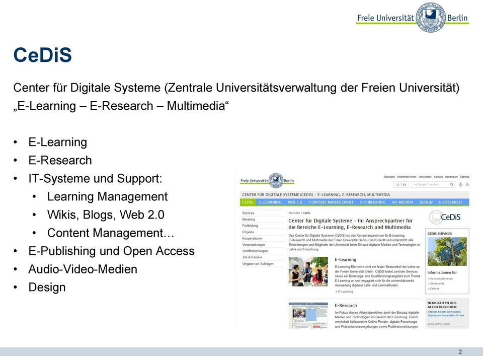 E-Research IT-Systeme und Support: Learning Management Wikis, Blogs,