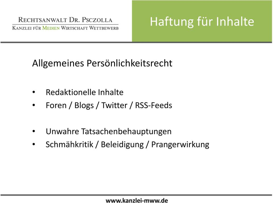 Twitter/ RSS-Feeds Unwahre