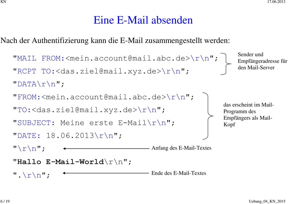 "06.2013\r\n""; ""\r\n""; ""Hallo E-Mail-World\r\n""; ""."