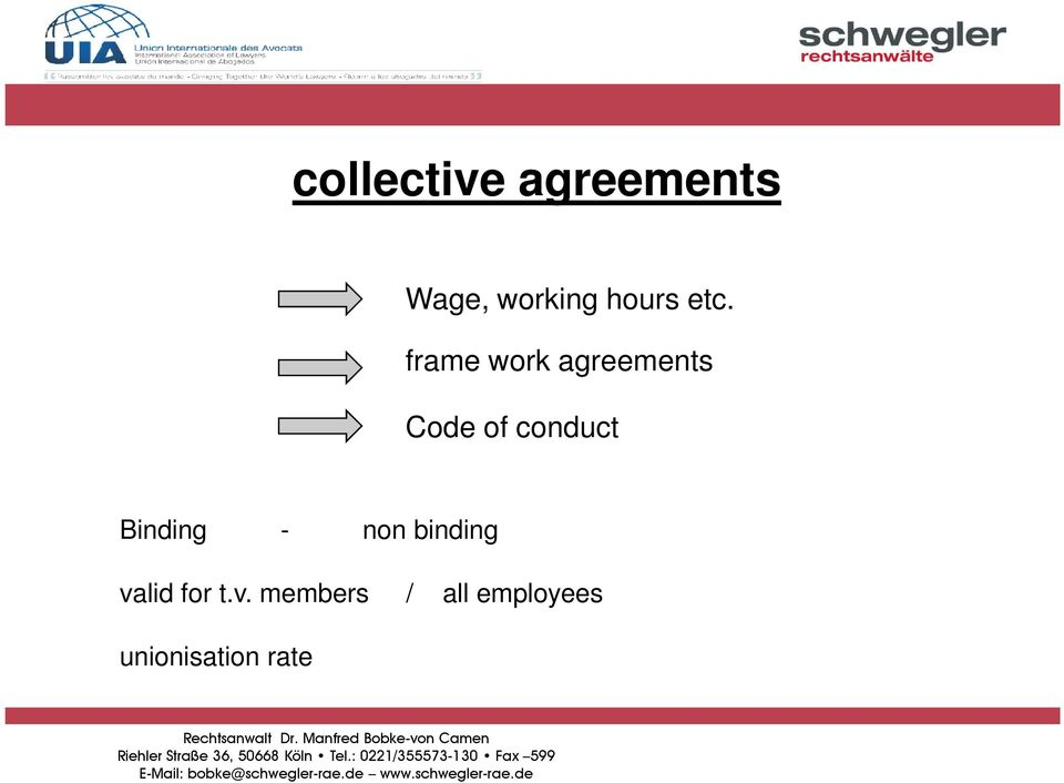 frame work agreements Code of conduct