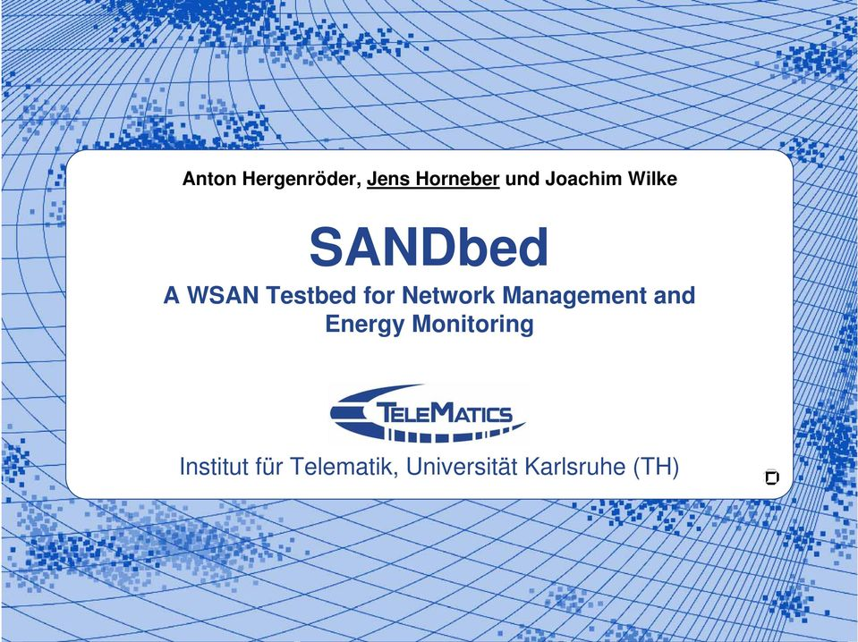 for Network Management and Energy
