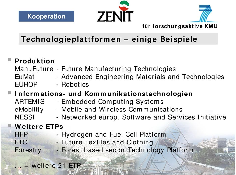 Computing Systems emobility - Mobile and Wireless Communications NESSI - Networked europ.