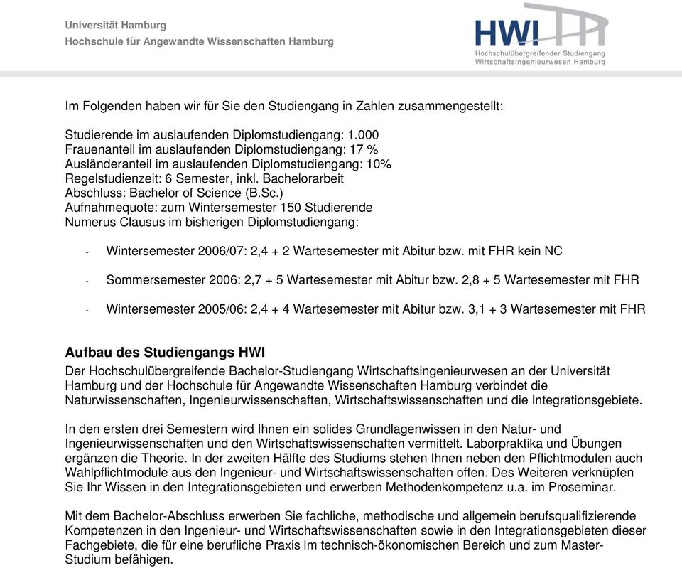 Studieninformationen hochschul bergreifende struktur pdf for Ingenieur studium nc