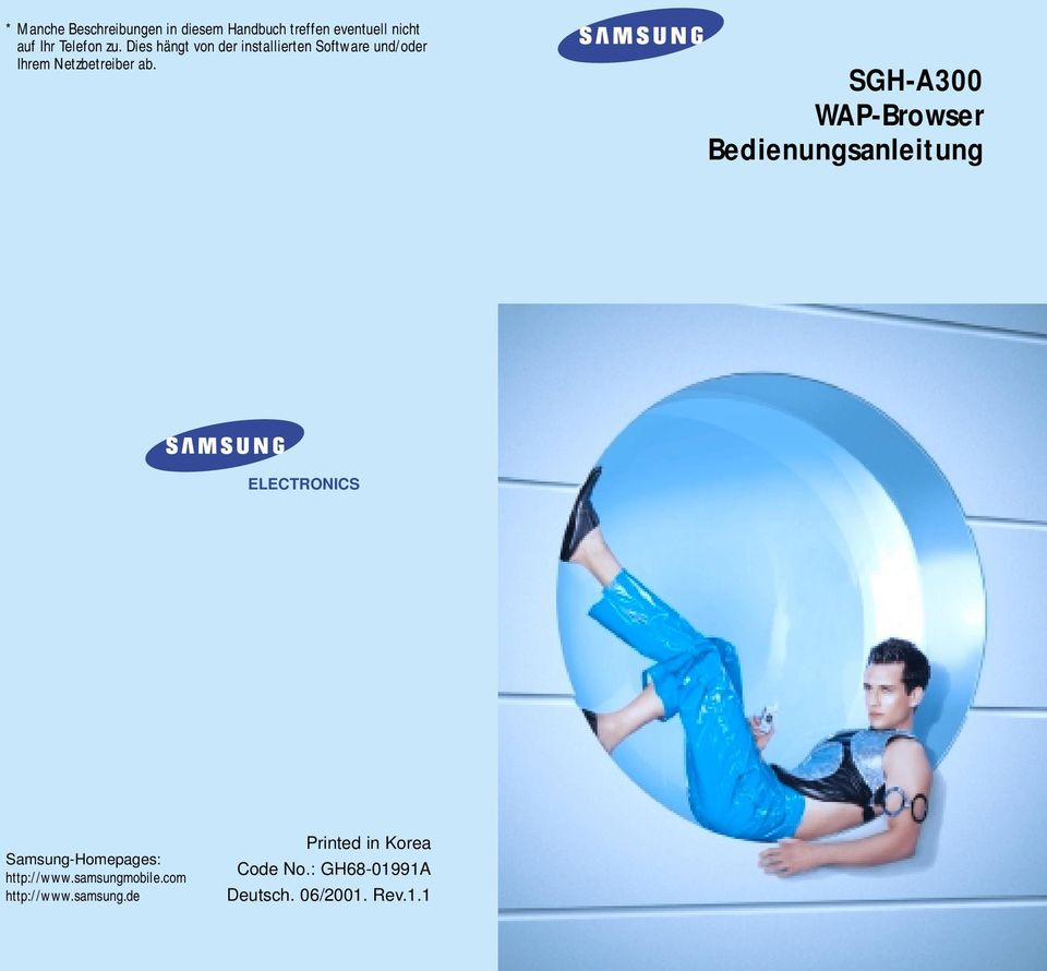 SGH-A300 Bedienungsanleitung ELECTRONICS Samsung-Homepages: http://www.samsungmobile.