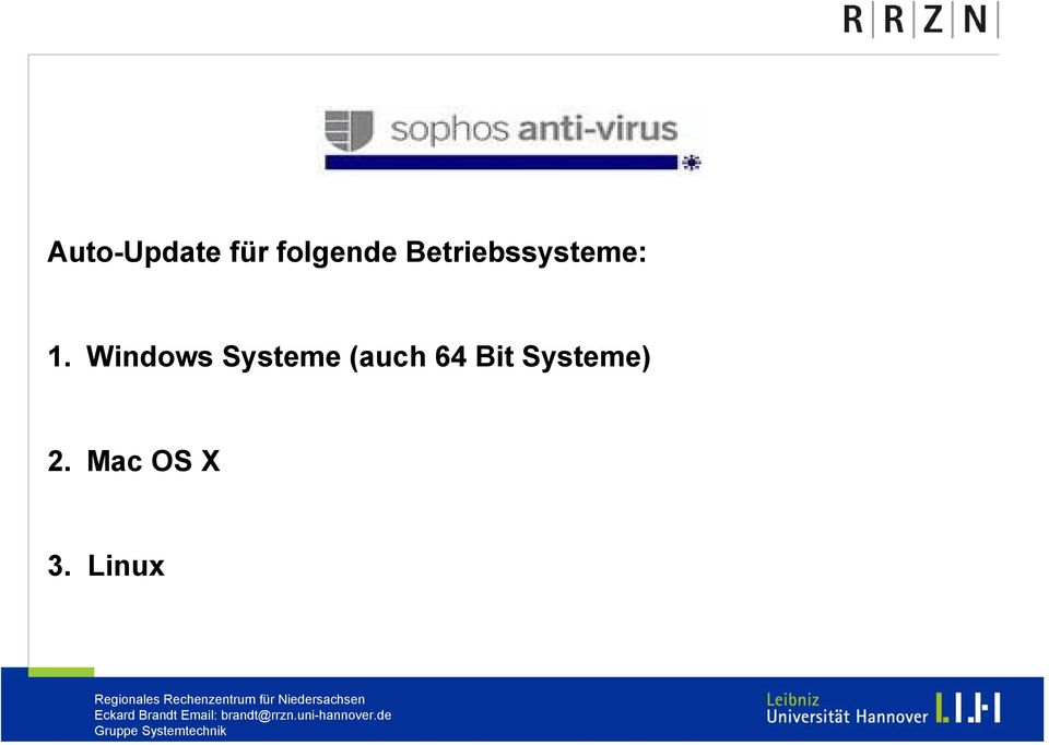 Windows Systeme (auch 64
