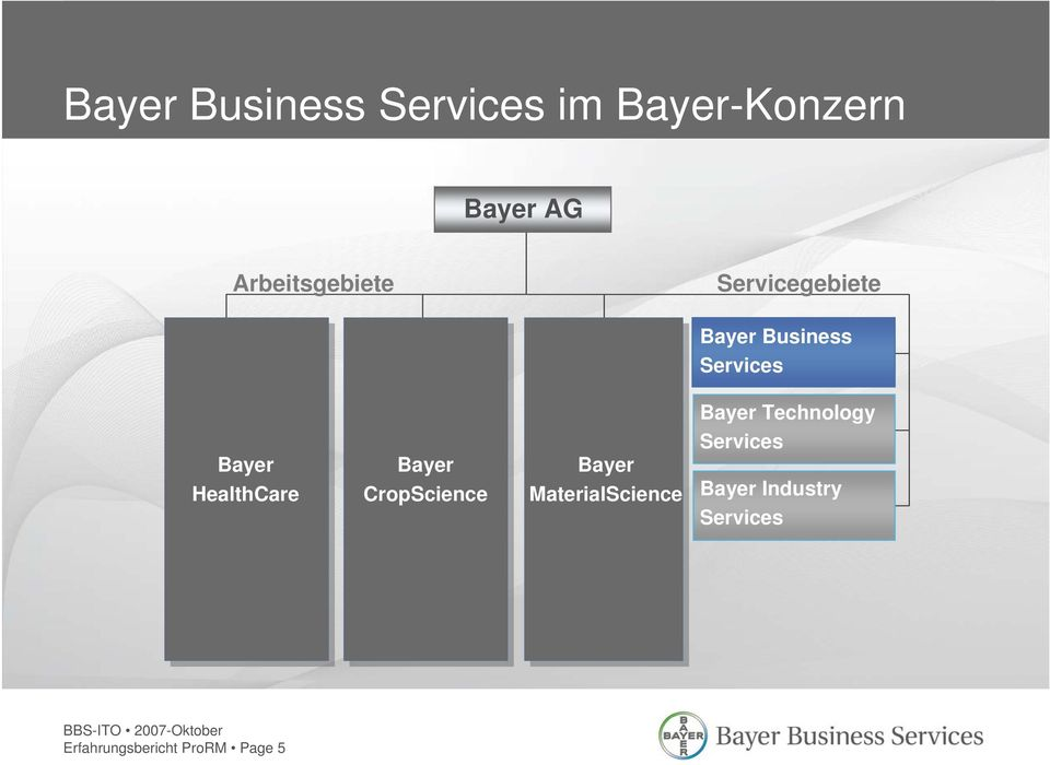 HealthCare Bayer CropScience Bayer MaterialScience Bayer