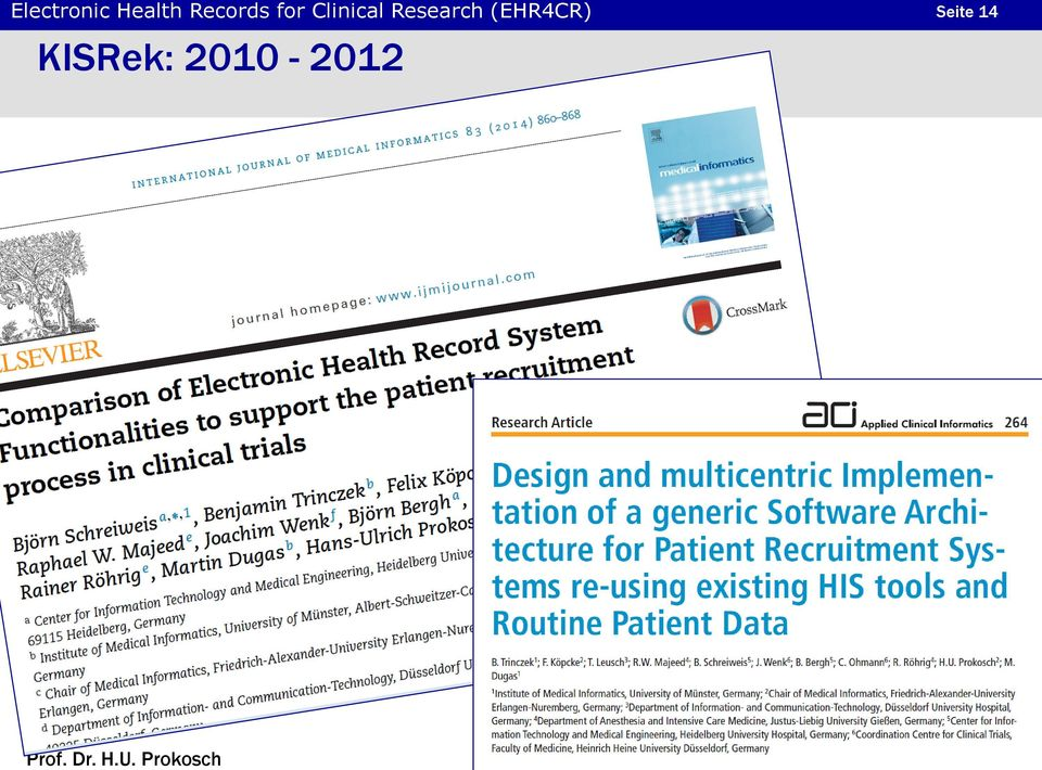 Research (EHR4CR)