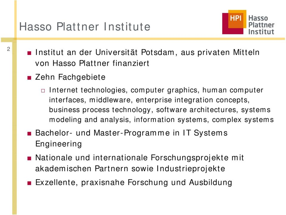 architectures, t systems modeling and analysis, information systems, complex systems Bachelor- und Master-Programme in IT Systems Engineering