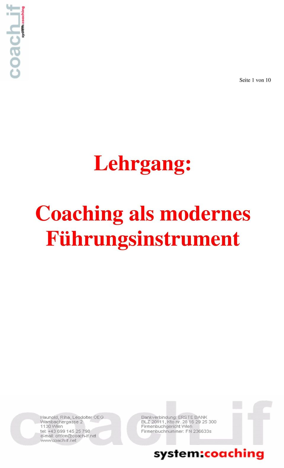 Coaching als
