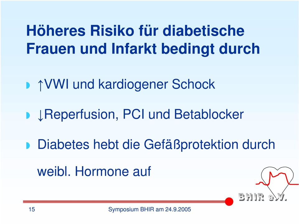 Reperfusion, PCI und Betablocker Diabetes