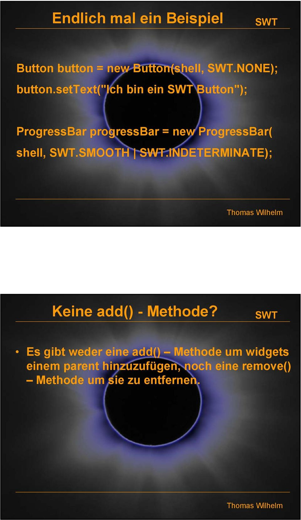 shell,.smooth.indeterminate); Keine add() - Methode?