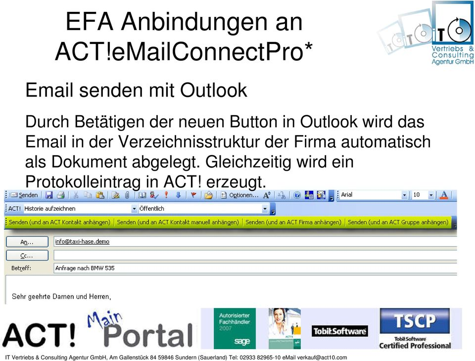 neuen Button in Outlook wird das Email in der