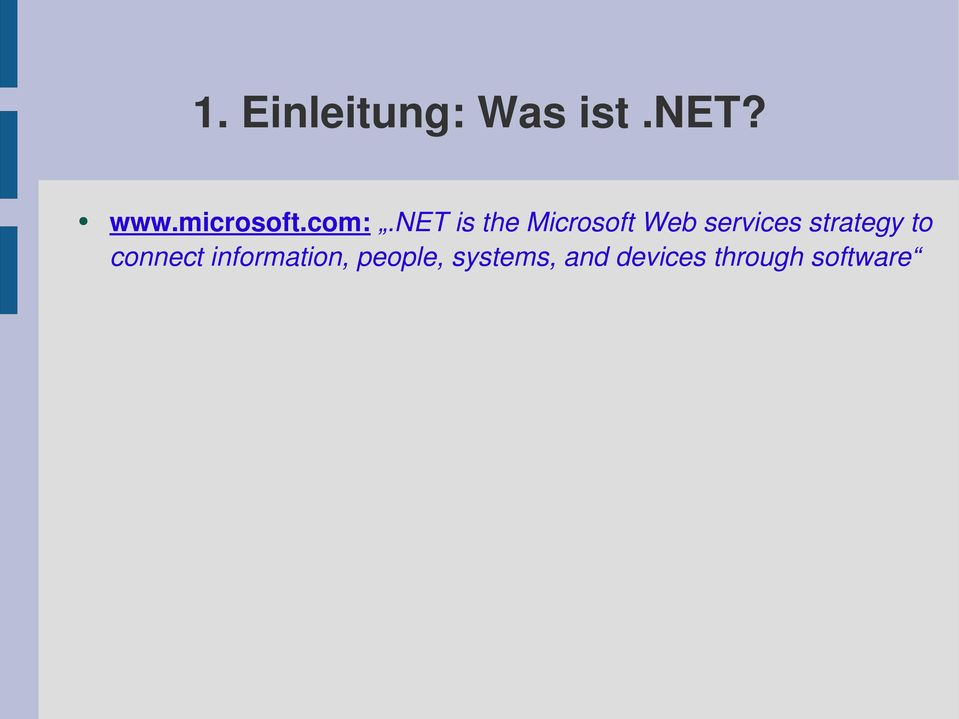 net is the Microsoft Web services