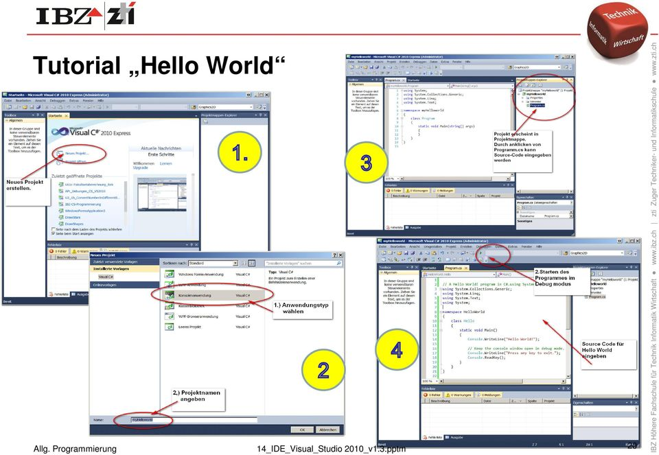 20 Tutorial Hello World 14_IDE_Visual_Studio 2010_v1.3.pptm 20