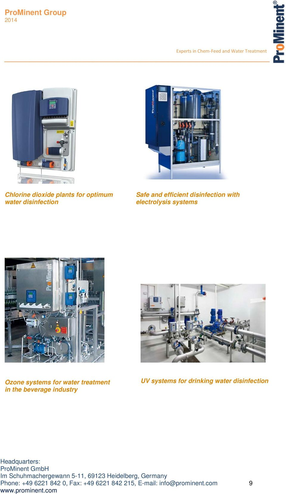 treatment in the beverage industry UV systems for drinking water disinfection