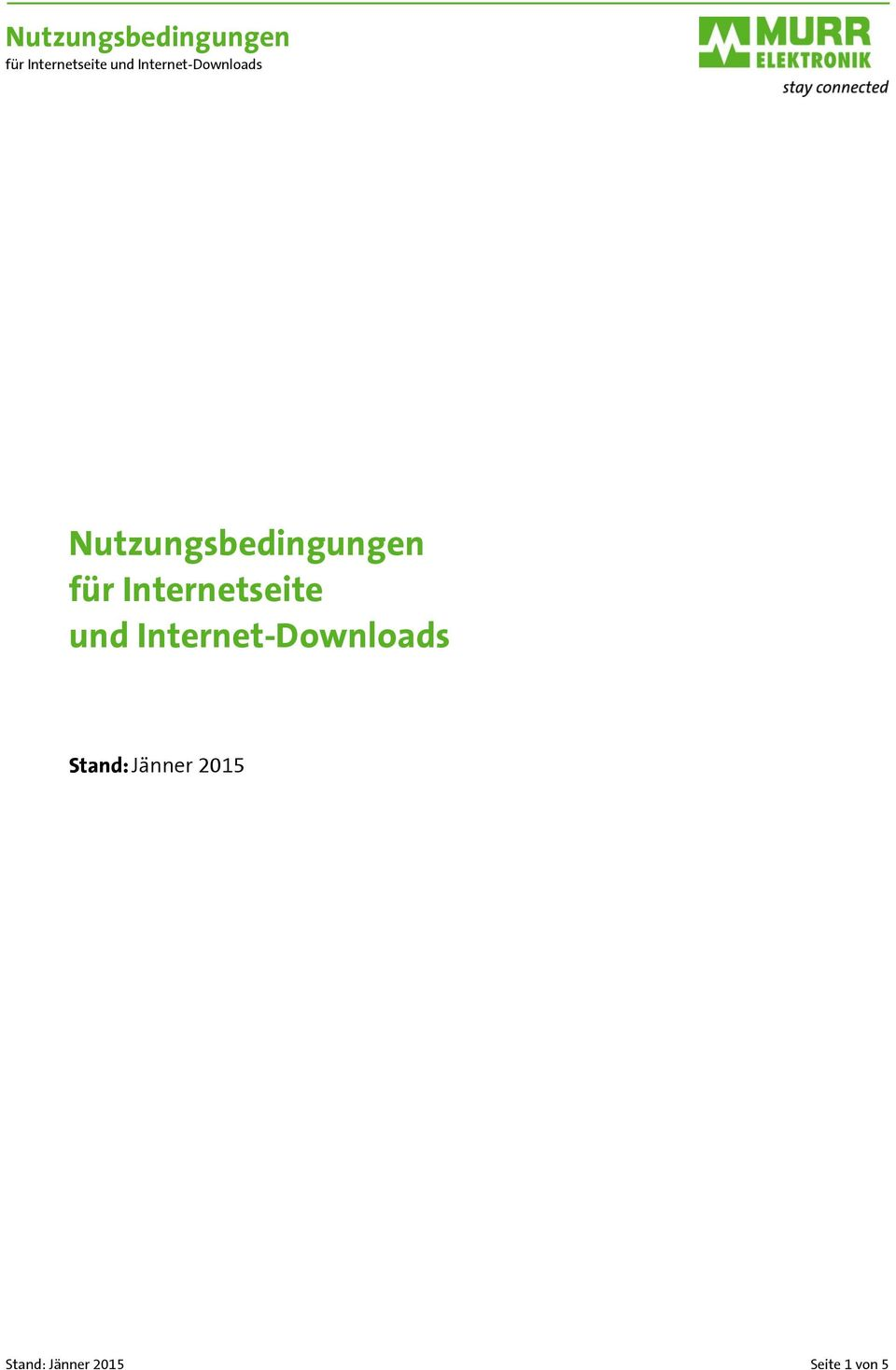 Internet-Downloads Stand: