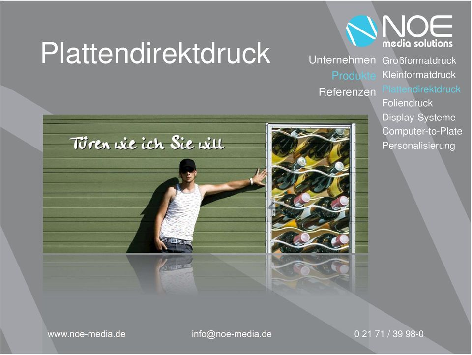Foliendruck Display-Systeme
