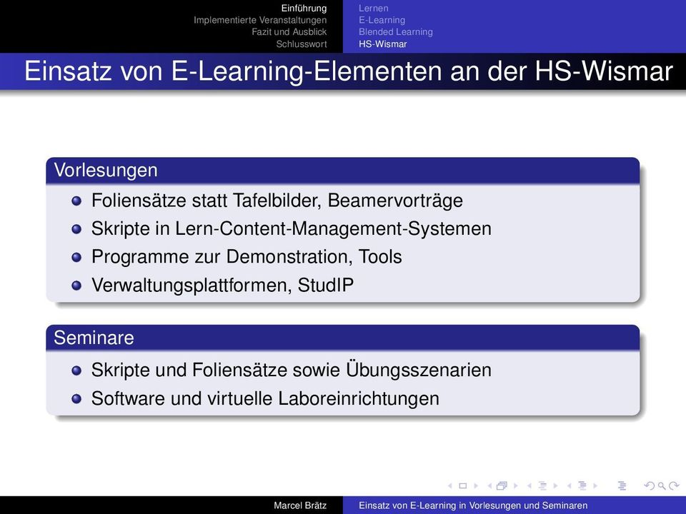 Lern-Content-Management-Systemen Programme zur Demonstration, Tools