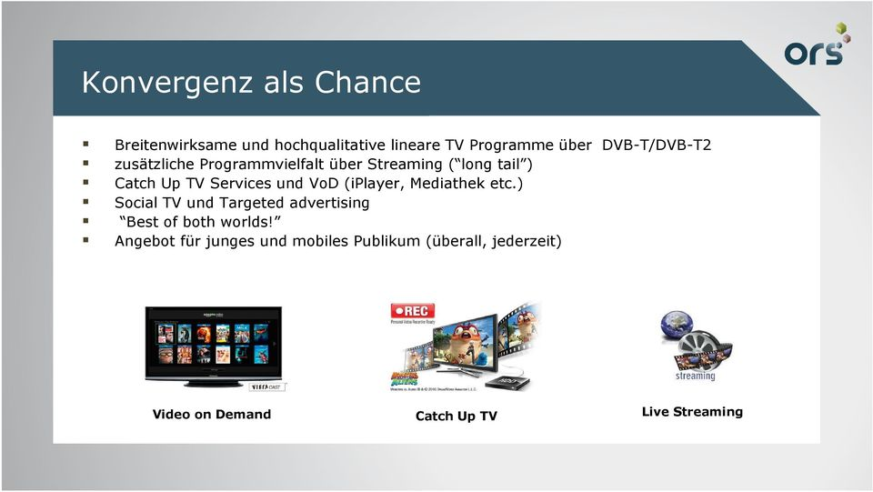 und VoD (iplayer, Mediathek etc.) Social TV und Targeted advertising Best of both worlds!