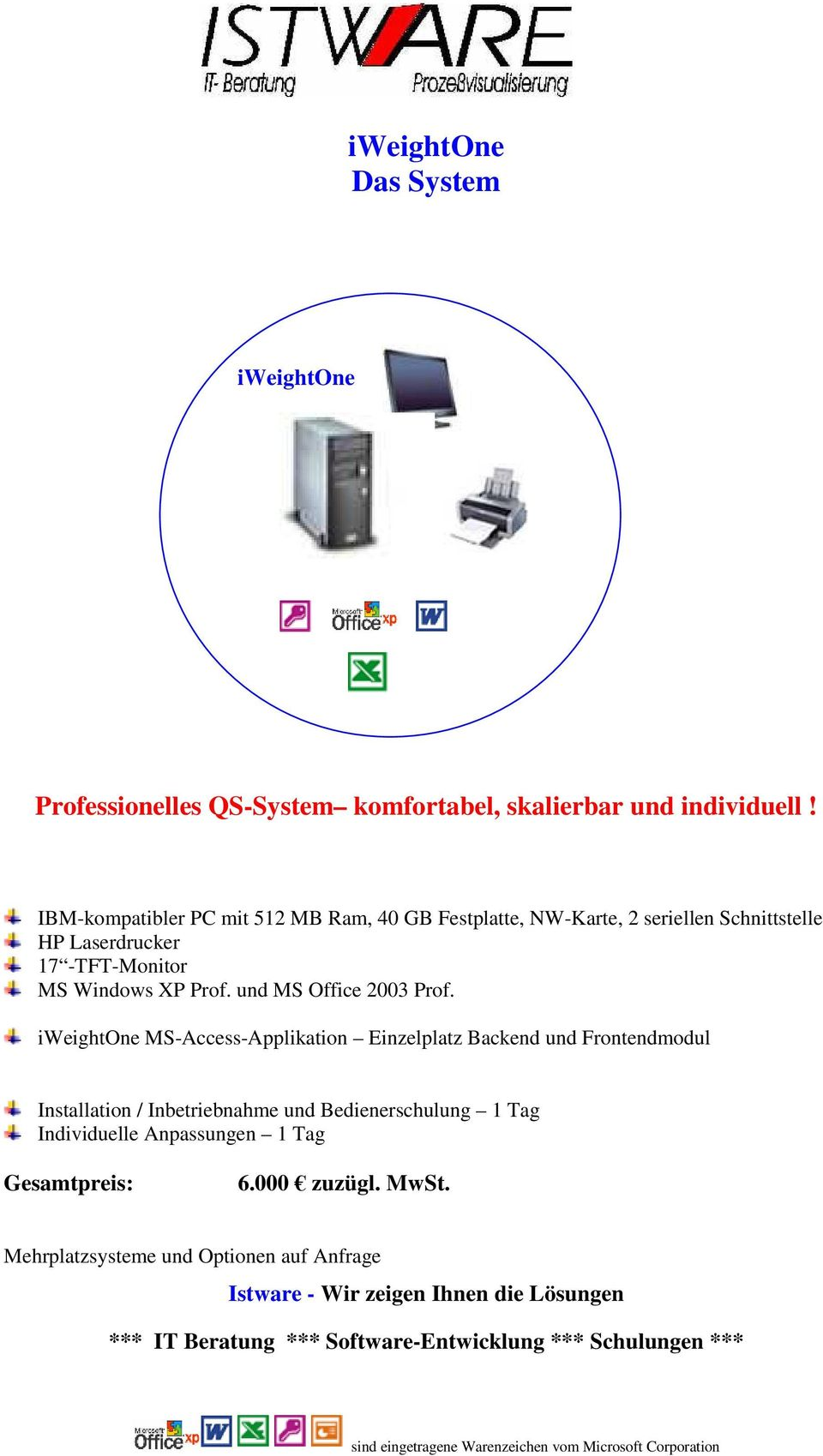 MS Windows XP Prof. und MS Office 2003 Prof.
